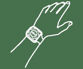 SAFE SPACER indossabile come orologio